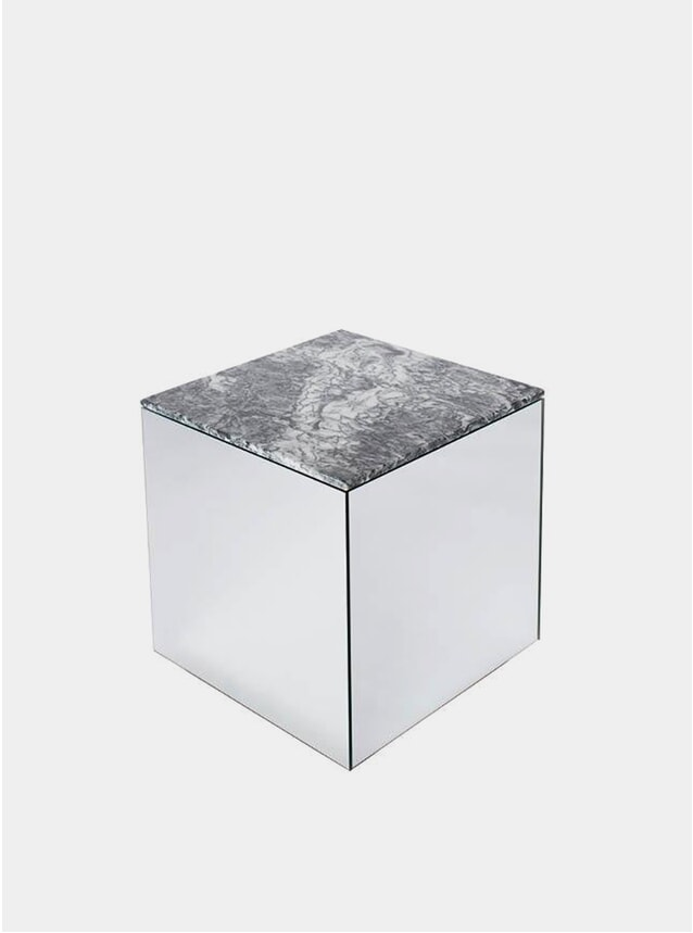 Grey Marble Mirror Table