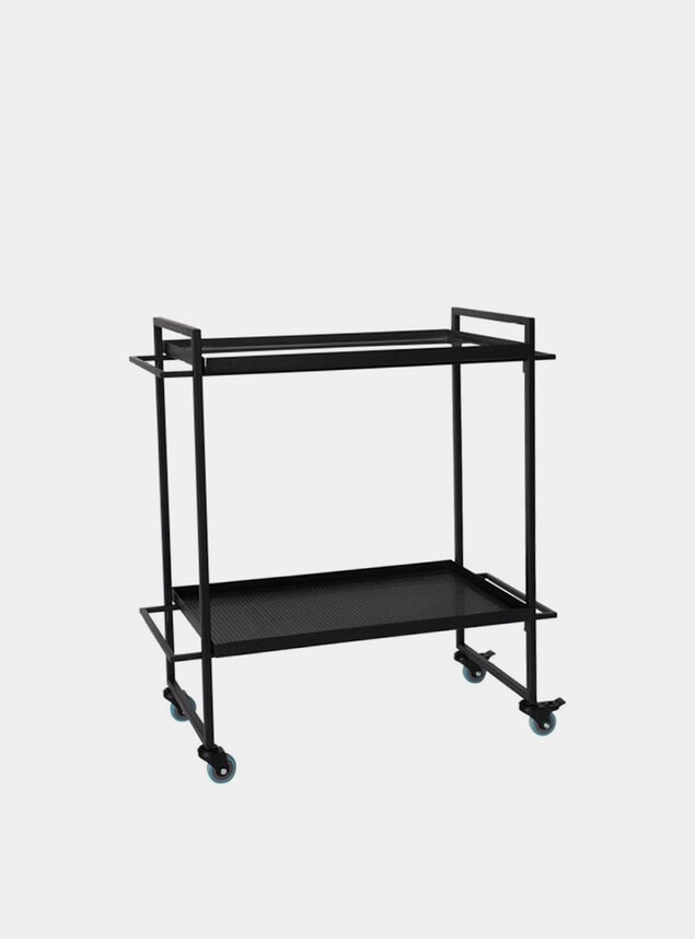 Black Bauhaus Bar Trolley