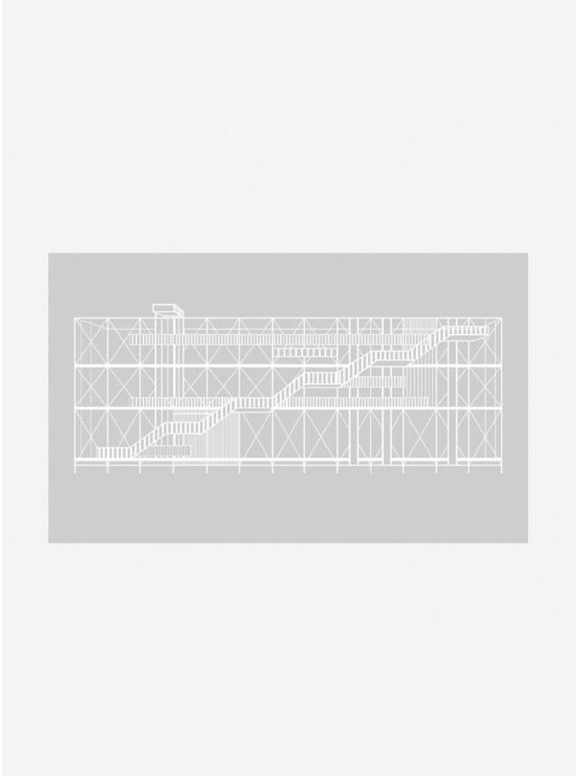 Grey Pompidou Print