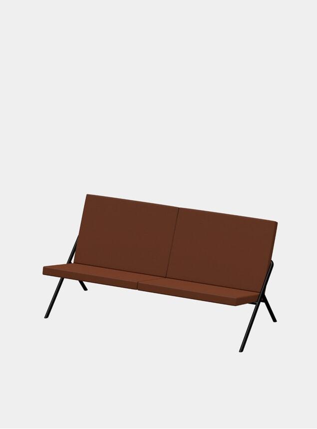 Cinnamon Nappa DL2 Euclides Two Seater Sofa