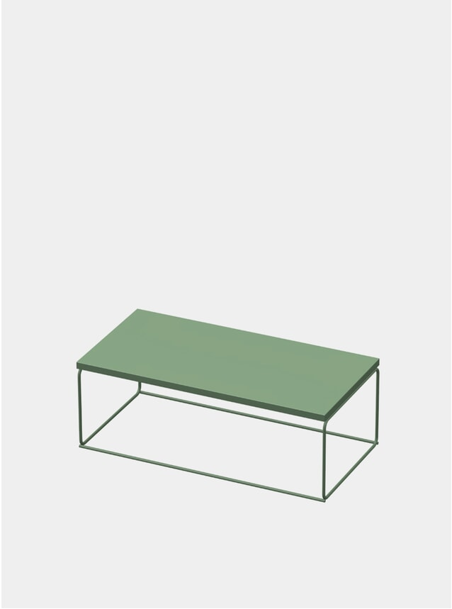 Industrial Green DL1 Tangram Rectangular Side Table