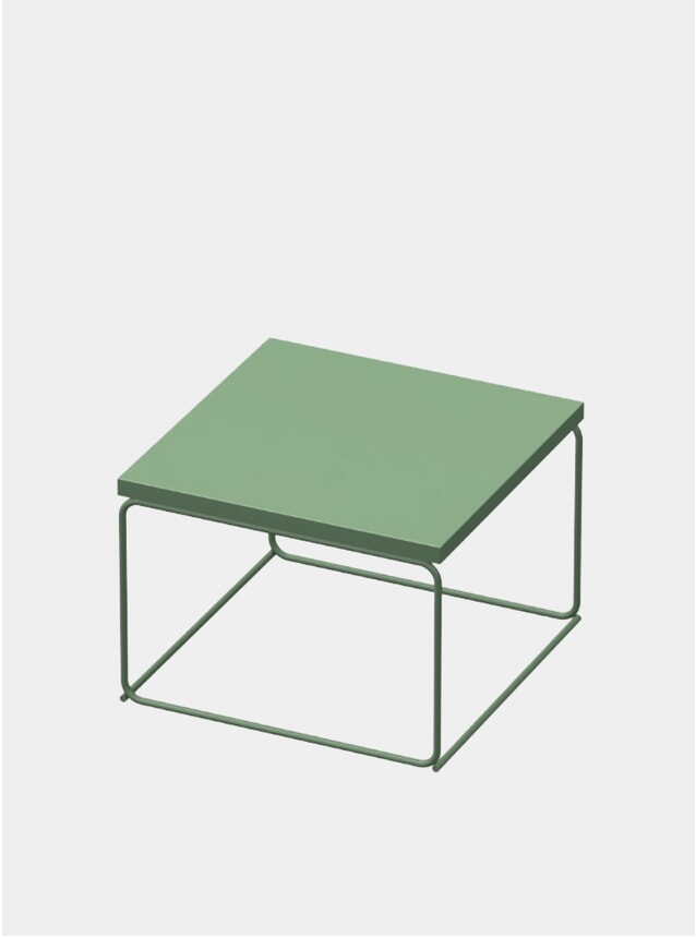 Industrial Green DL1 Tangram Square Side Table