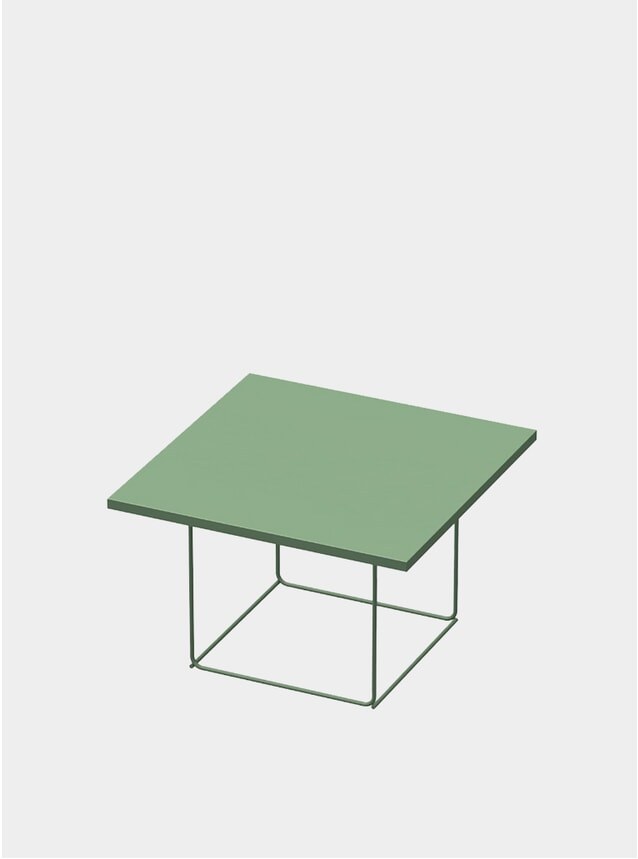 Industrial Green DL3 Umbra Square Side Table