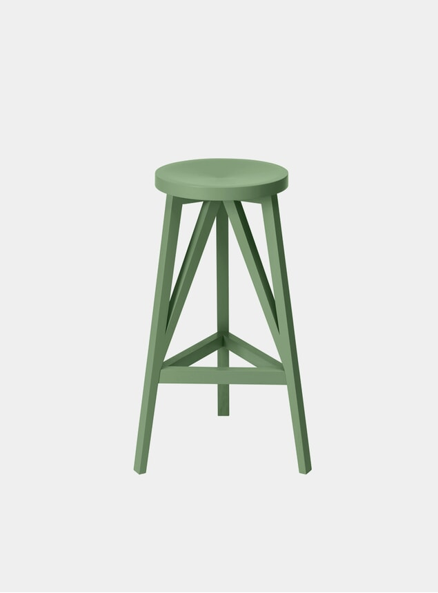 Industrial Green JL4 Faber Bar Stool