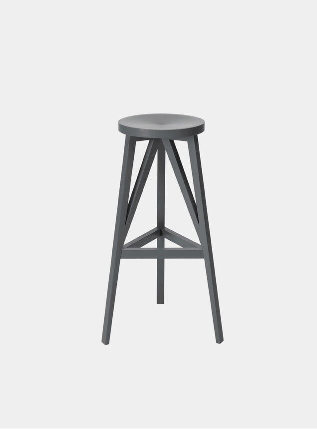 Mouse Grey JL4 Faber Bar Stool