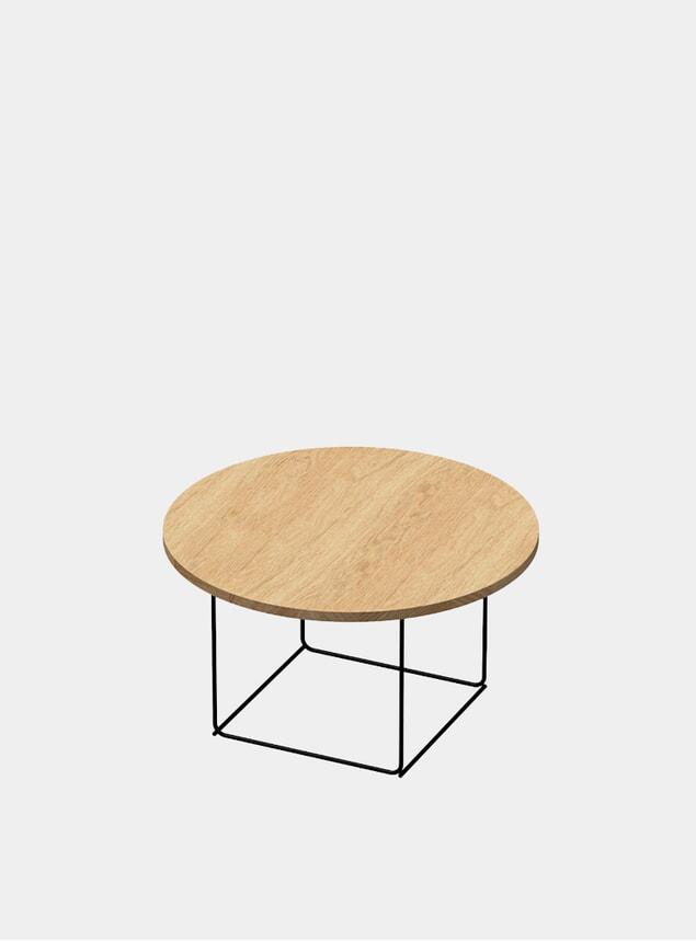 Natural Oak / Black DL3 Umbra Round Side Table