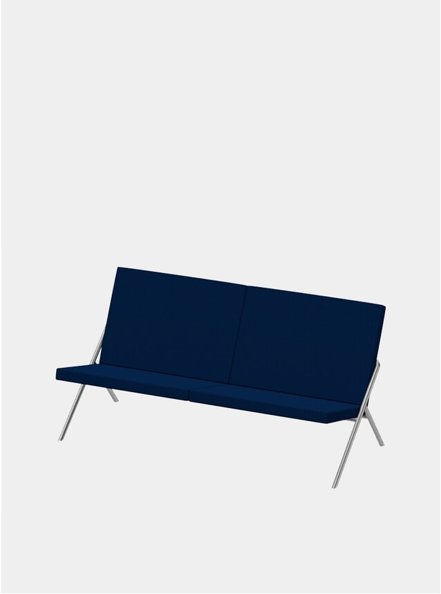Navy / Steel DL2 Euclides Two Seater Sofa