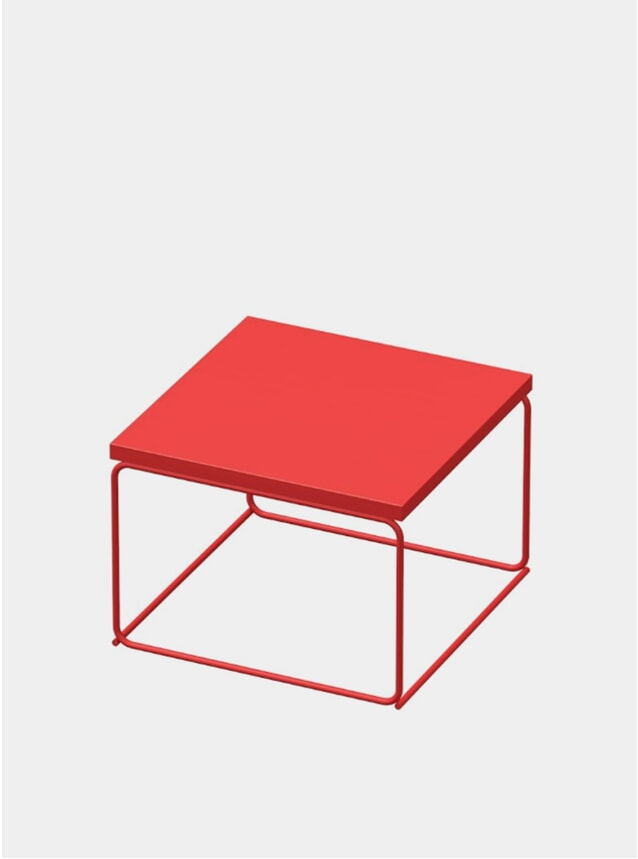 Pure Red DL1 Tangram Square Side Table