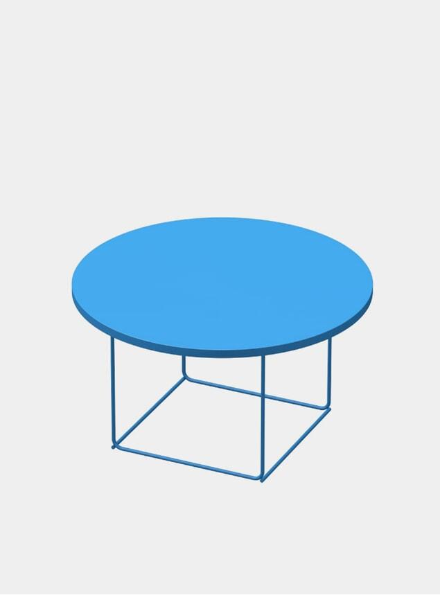 Sky Blue DL3 Umbra Round Side Table