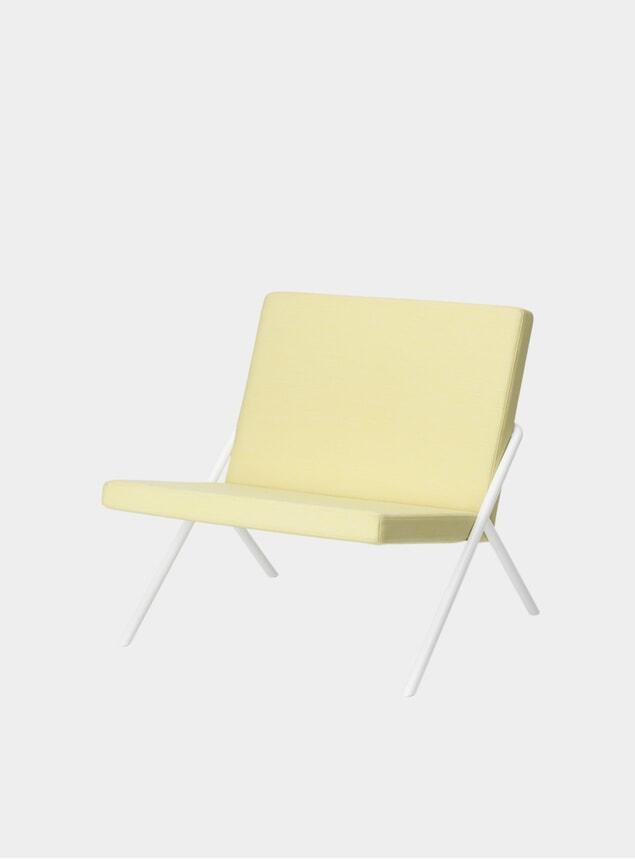 Vidar Lemon / White Frame DL2 Euclides Lounge Chair