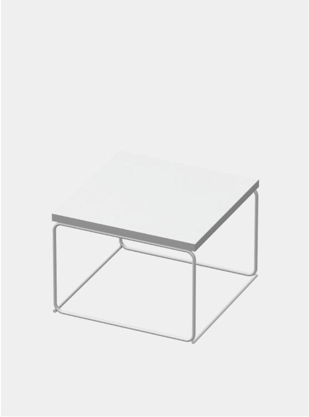 White DL1 Tangram Square Side Table
