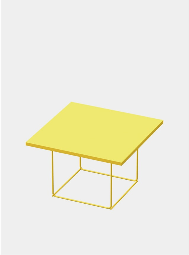 Zinc Yellow DL3 Umbra Square Side Table