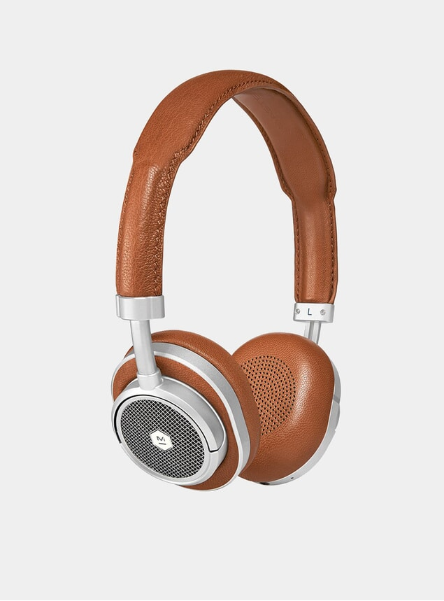 Silver Metal / Brown MW50 Wireless Headphones