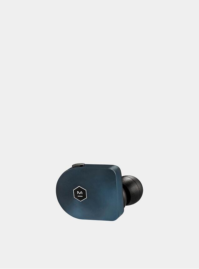 Steel Blue Matte Acetate Wireless MW07 Earphones