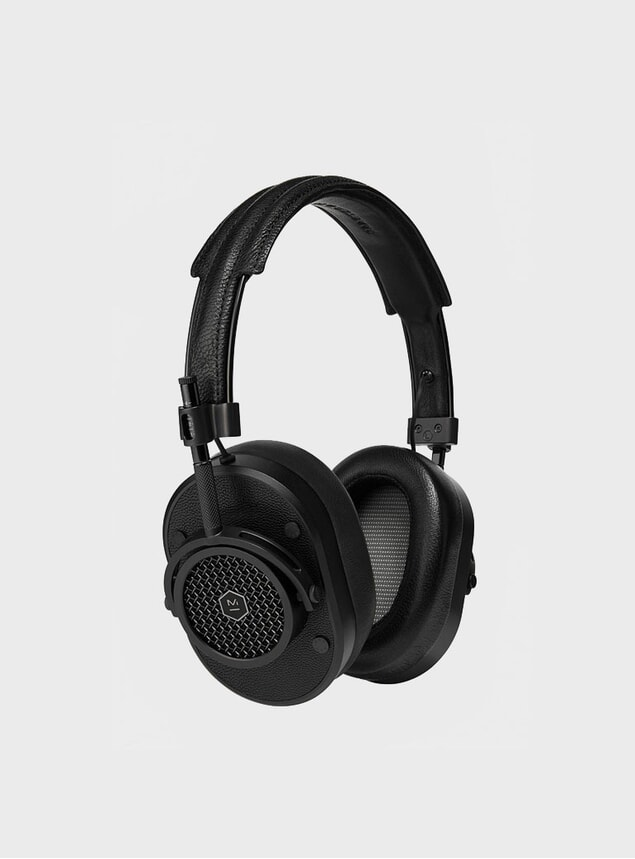 All Black MH40 Headphones