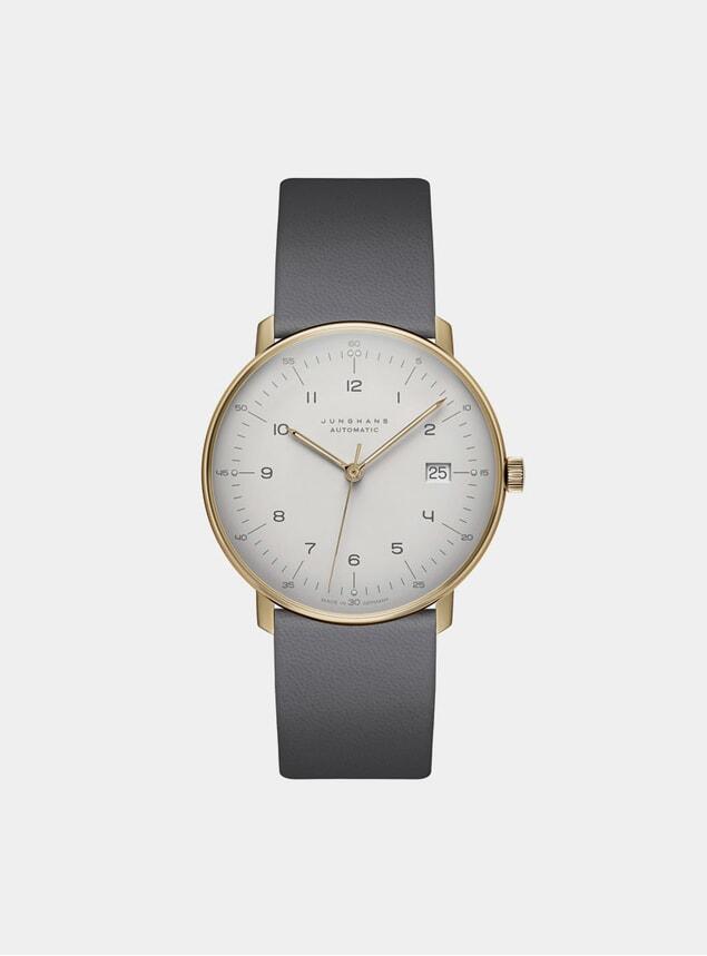 Grey / White Max Bill Automatic 027/7806.00 Watch