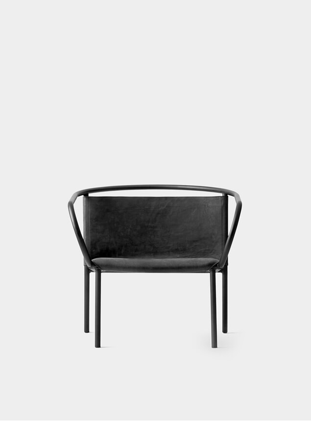 Black Afteroom Lounge Chair