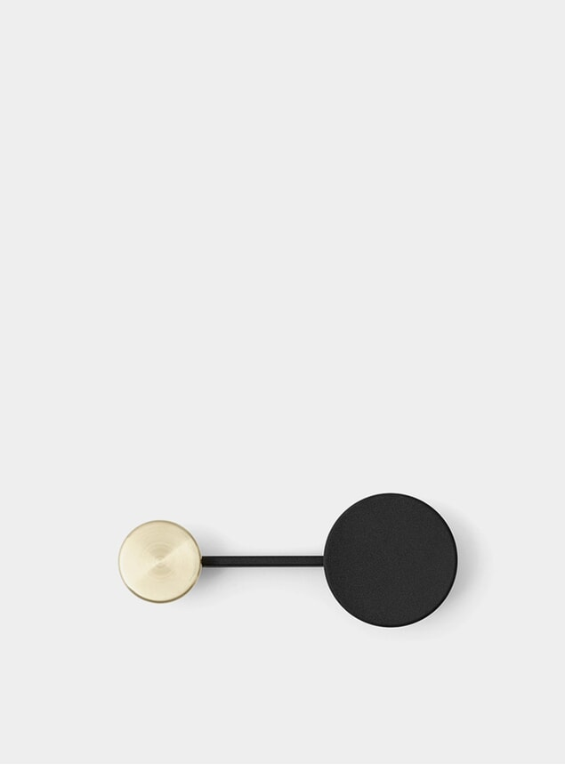Black / Brass Small Afteroom Coat Hanger