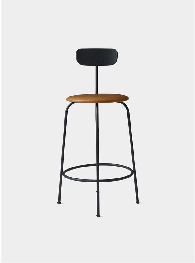 Black / Cognac Counter Chair