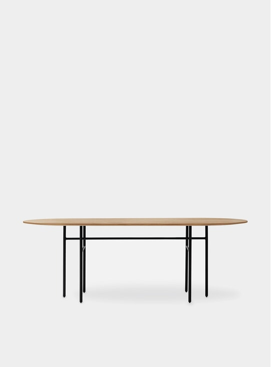 Black / Oak Oval Snaregade Table