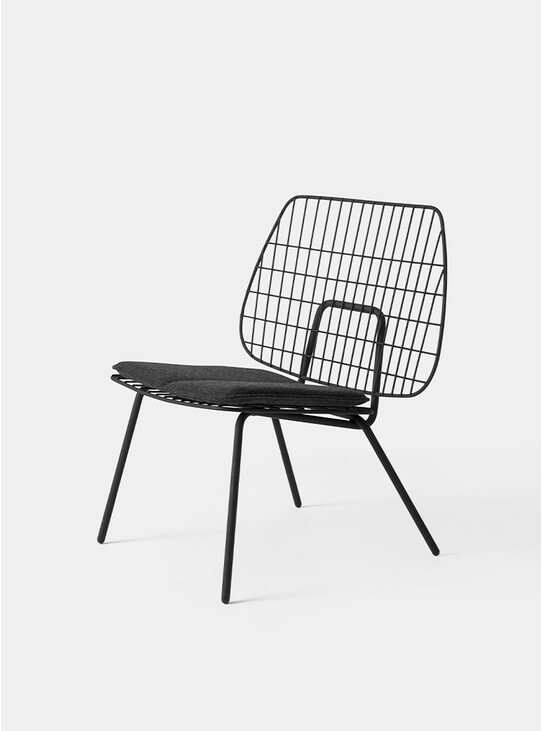 Black WM String Lounge Chair