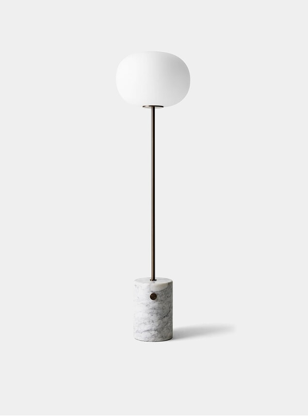 Bronzed Brass / White Marble JWDA Floor Lamp
