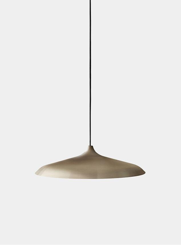 Brushed Bronze Circular Pendant Lamp