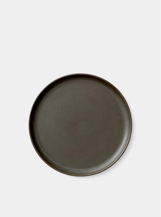 Dark Glazed Ø23cm Norm Lunch Plate Set of 6
