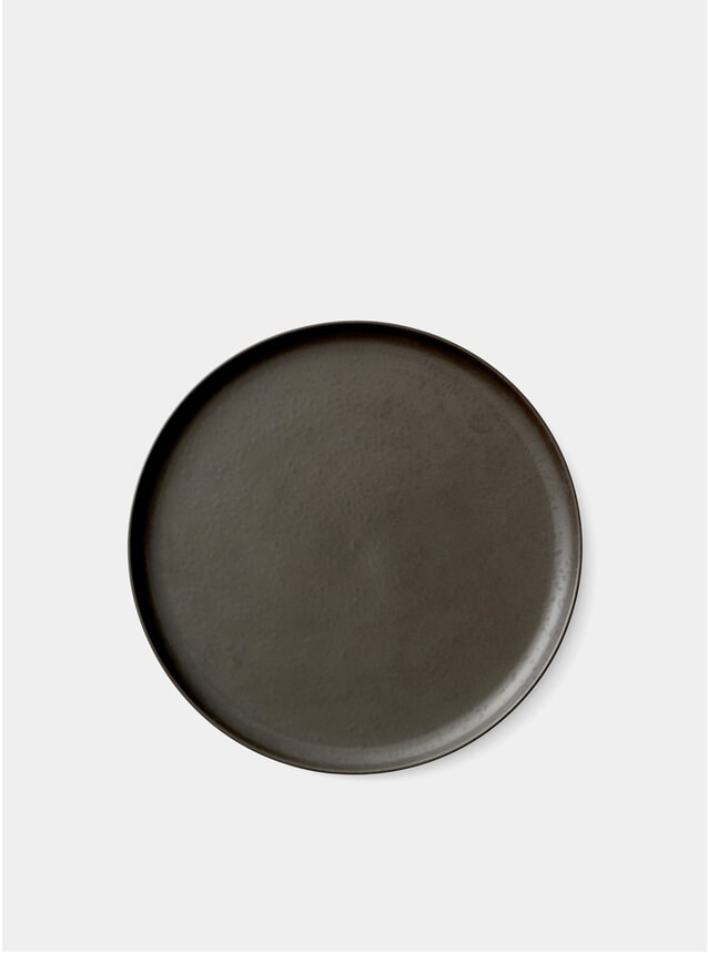 Dark Glazed Ø27cm Norm Plate / Dish Set of 6