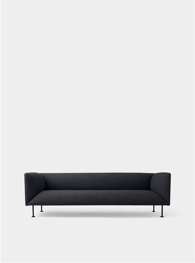 Dark Grey Melange Godot 3 Seater Sofa