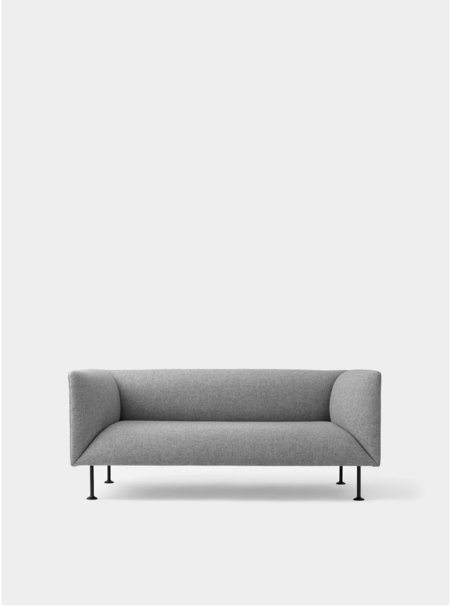 Grey Melange Godot 2 Seater Sofa