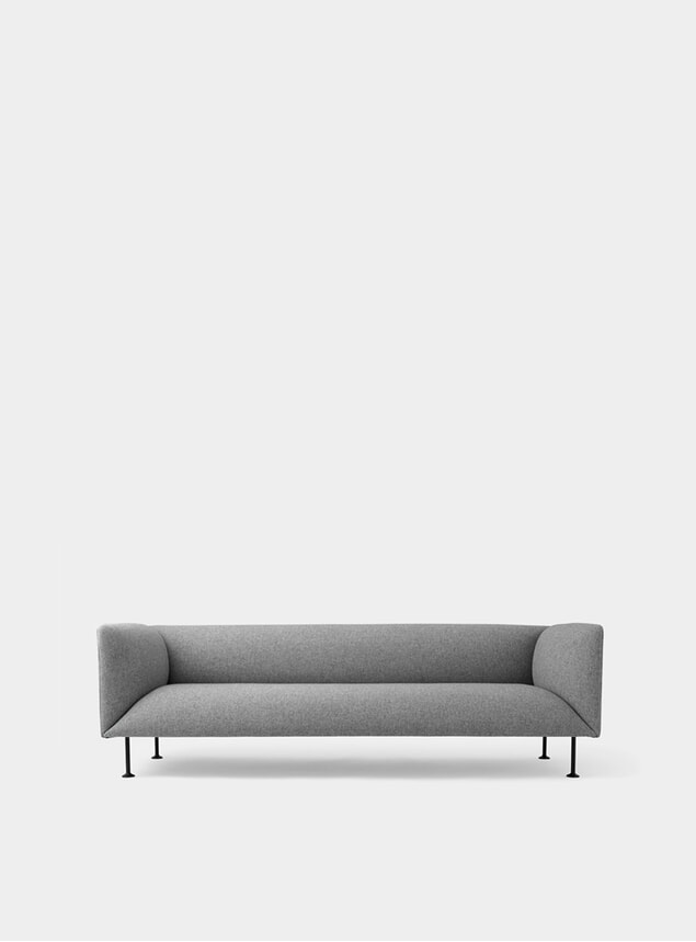 Grey Melange Godot 3 Seater Sofa