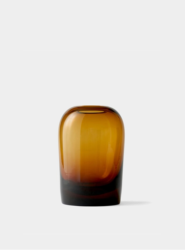 Large Amber Troll Vase