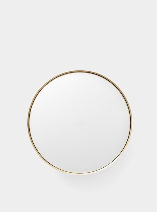 Large Brushed Brass Darkly Mirror