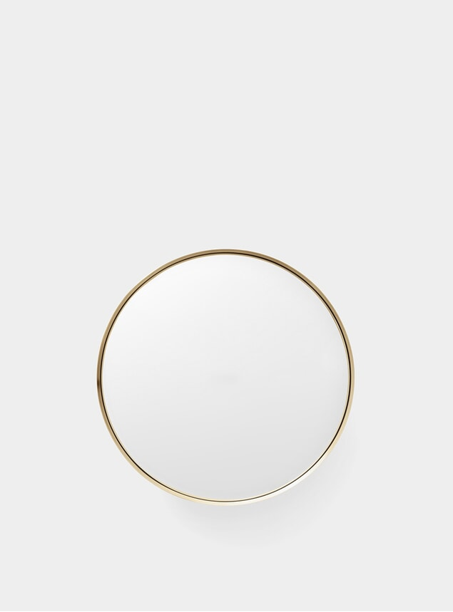 Medium Brushed Brass Darkly Mirror