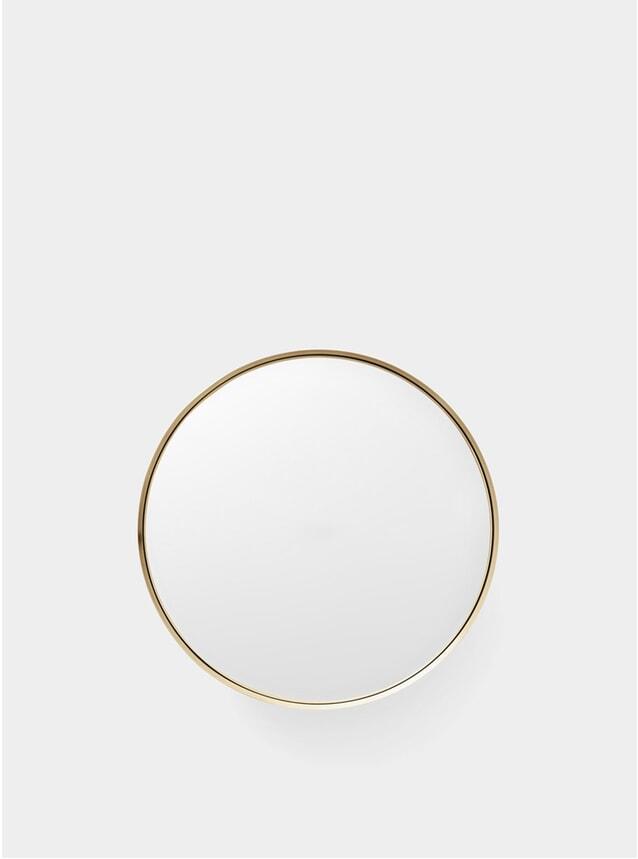 Medium Brushed Brass Darkly Mirror