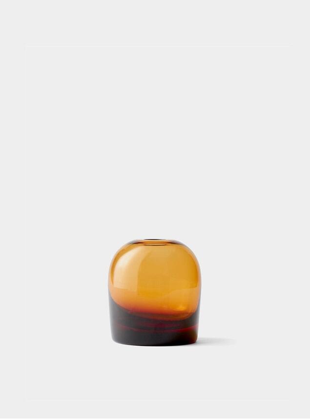 Small Amber Troll Vase