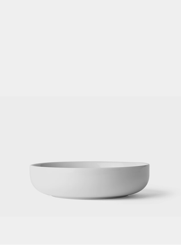 White New Norm Low Bowl Set of 4