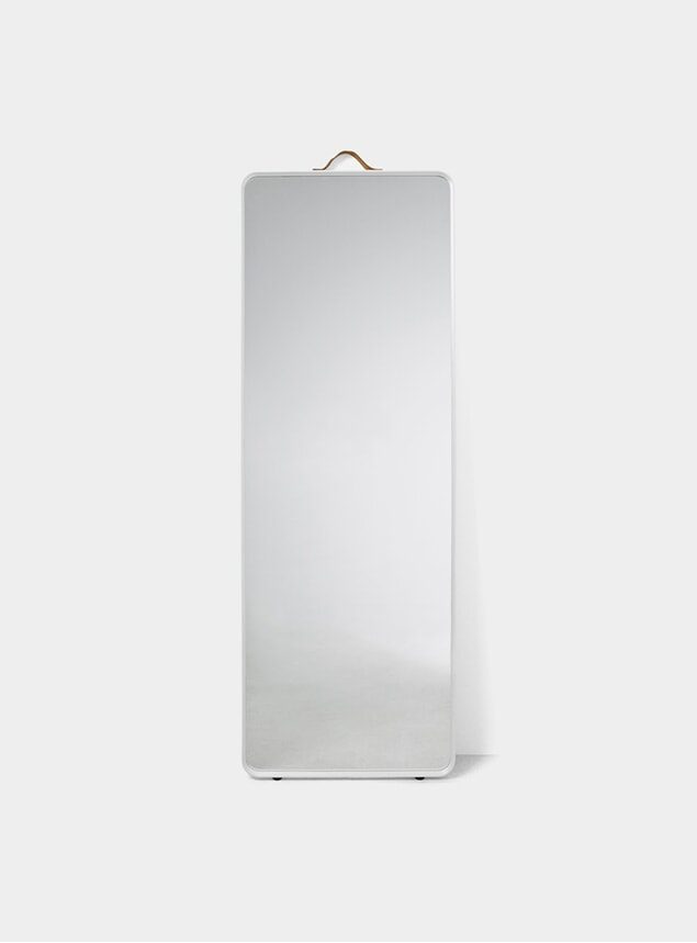 White Norm Floor Mirror
