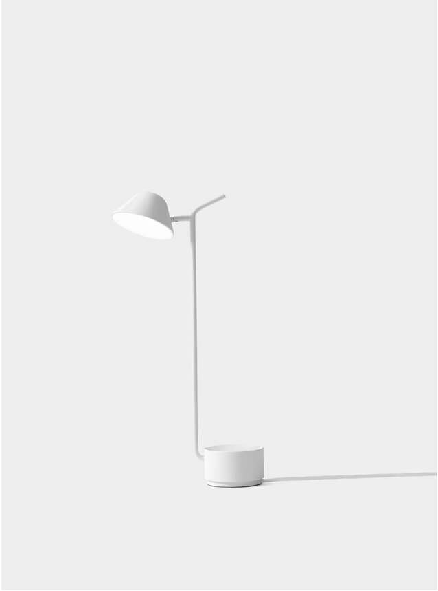 White Peek Table Lamp