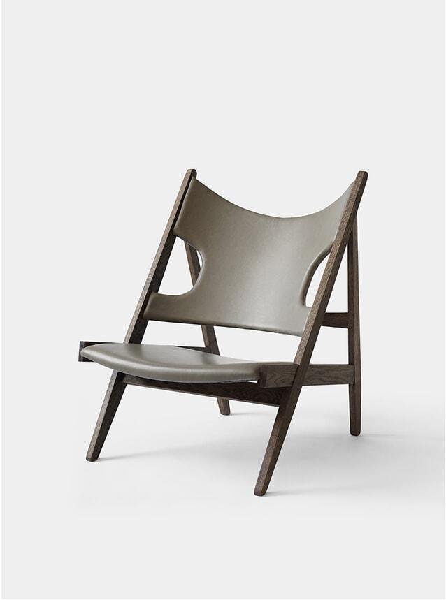 Wood Base Knitting Lounge Chair