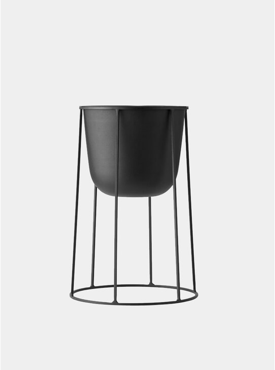 Black Medium Wire Stand & Plant Pot