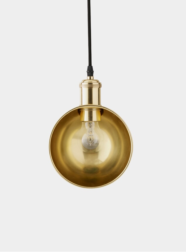 Grey / Brass Duane Tribeca Pendant Light