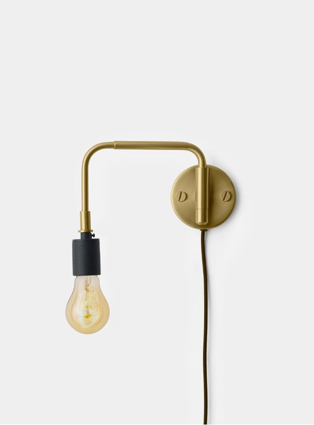 Brass Staple Lamp Tribeca