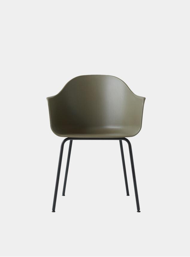 Khaki / Dark Oak Base Harbour Chair