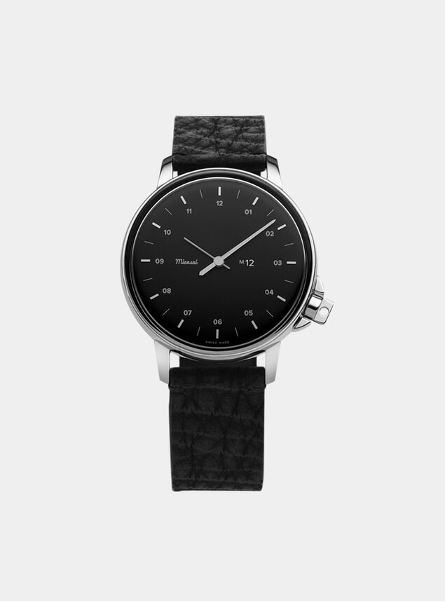 Black / Black Leather M12 Shark Watch