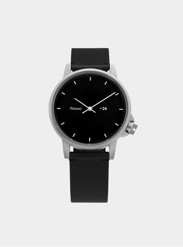 Black Leather M24 Watch