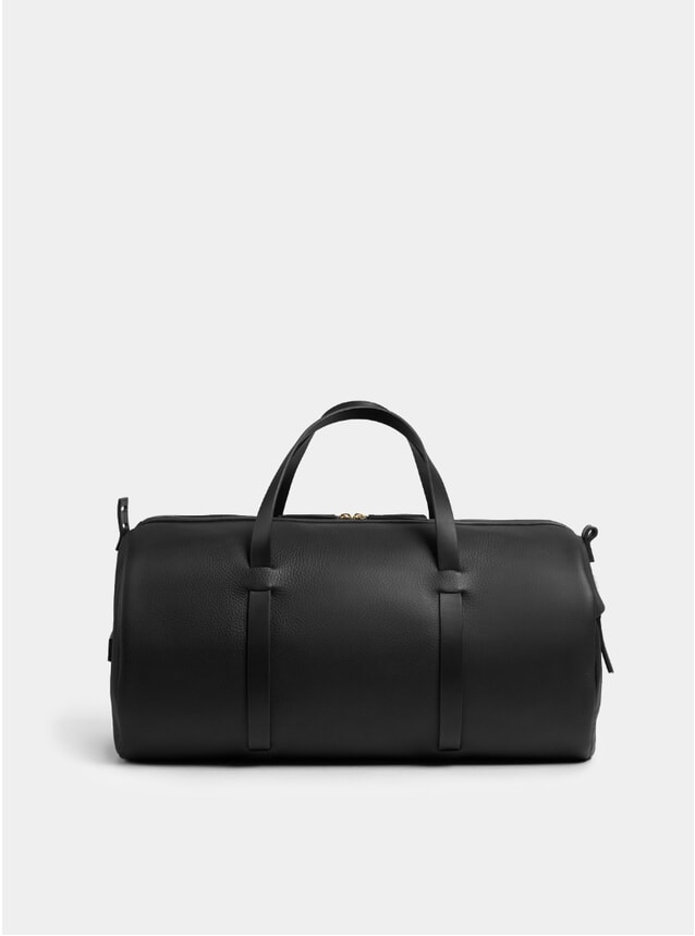 Black Textured Duval Duffle Bag