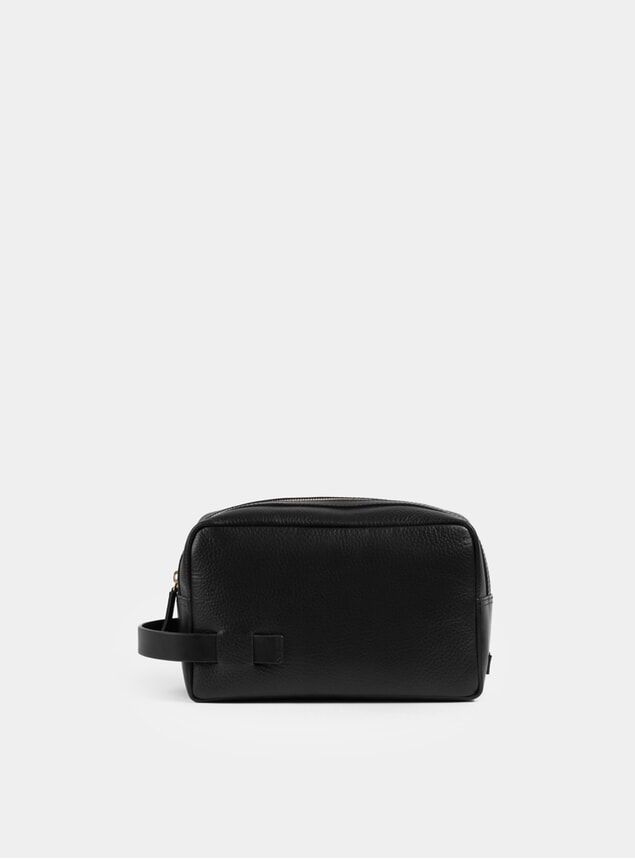 Black Textured Lido Dopp Kit