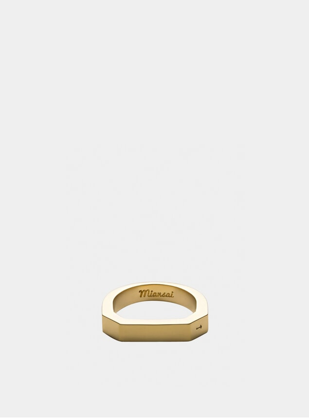 Gold Hex Ring